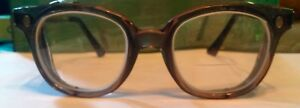 Vintage Fendall T 30 Safety Glasses With Plastic Wire Mesh Side Shields