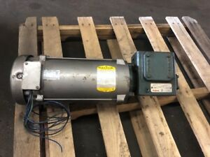 Baldor Industrial Electric Dc Motor 35p456z170 2hp 1750 Rpm Grove Gear Reducer