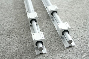 2pcs Sbr16 L300 2000mm Linear Rail Silde Guide Shaft 4pcs Sbr16uu Block