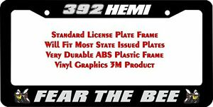 Scat Pack Fear The Bee 392 Hemi Grey Custom License Plate Frame