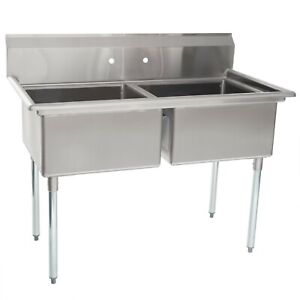 48 Two 2 Compartment Sink 20 X 20 Bowl Free Shipping
