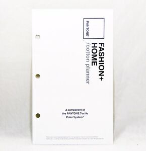 Pantone Fashion Home 100 Cotton Planner Swatch Reference Book Textile