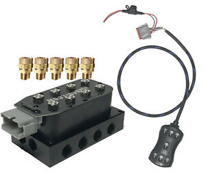 Air Ride Suspension Manifold Valve 1 2 npt Fast Air Bag Control Fbss 7switch Xzx