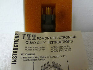 Pomona 5279 20 pin Test Clip For Soldered Quad Plccs