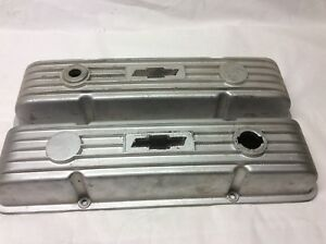 Pro Stock Finned Aluminum Valve Covers Sbc 327 350 Vintage Rat Hot Rod M T Offy