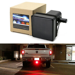2 Trailer Truck Hitch Towing Receiver Cover Smoked Lens 15 Led Brake Light