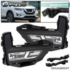 Clear Lens Fog Light For 2017 2018 Nissan Rogue S Sl Sv With Bezel Wires Switch