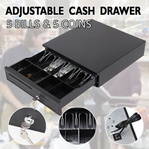 Manual electronic Heavy Duty Cash Drawer Cash Register Pos 5 Bills 5 Coins Tray