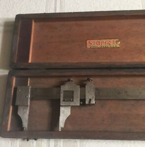 24 Starrett No 122 Vernier Calipers In Original Box