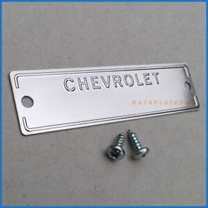 1953 1963 Chevrolet Data Plate Id Tag Vin Number Chevy With 2 Holes And Screws