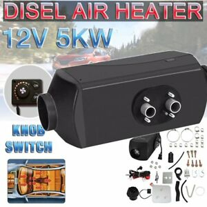 5000w Hot Auto Air Diesel Heater 5kw 12v For Truck boat Bus Can Knob Switch Qc