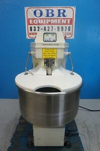 American Baking System Spiral Dough Mixer 120 Quart Capacity Model Sm 120t