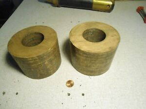 Bronze Solid Tube Pipe Round Od 4 5 X 3 5 Long X 2 Id Lot Of 2