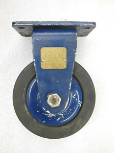 1 Vtg 4 Darnell Industrial Caster W Brass Tag Overall Height 5 1 4 Nos