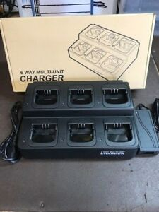 Motorola Cp 200 6 Bank Multi Charger Gang And Bank Charger Aftermarket