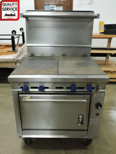 Montague 136 9ase tshs Commercial Heavy duty 36 Gas Range W Flat Top