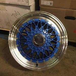 15 Rs Style Wheels Rims Blue 4 Lug 4x100 114 3 4x4 5 Brand New Set Of 4