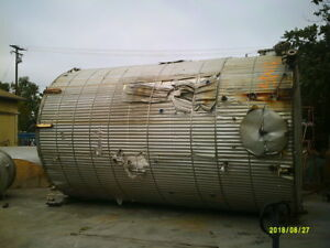 11 500 Gallon Stainless Steel Jacketed Tank
