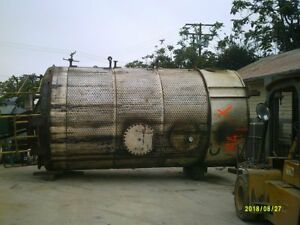 7 000 Gallon Stainless Steel Jacketed Tank