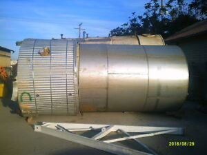 5 400 Gallon Stainless Steel Jacketed Tank