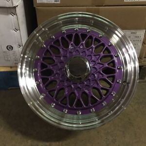15 Rs Style Wheels Rims Purple 4 Lug 4x100 114 3 4x4 5 Brand New Set Of 4
