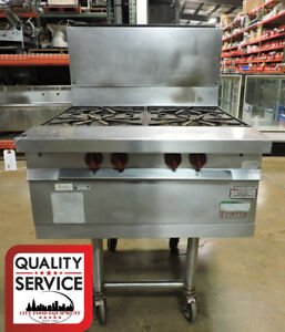 Vulcan Ghm45 Commercial Open Top 4 Burner Heavy Duty Modular Gas Range
