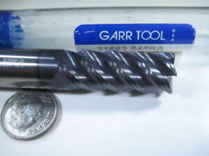 Garr Carbide 1 2 End Mill 5 Flute 030 Radius Milling Machinist Lathe Tool Bit