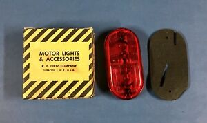 Dietz Marker Light No 59 Red Lens Vintage Truck Trailer Accessory