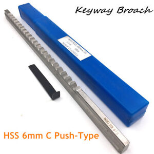 6mm Keyway Broach C1 Push Type Metric Hss Cnc Metalworking Cutting Machine