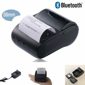 Bluetooth 58mm Pos esc Thermal Dot Receipt Printer Cash Drawer Roll Paper My