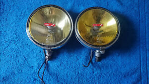 Vintage Lucas Chrome Yellow Fog Light Fog Lamp
