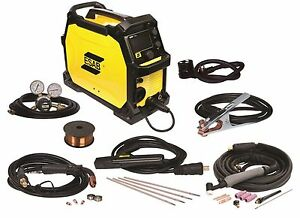 New In Damaged Box Esab Rebel Emp 215ic Mig stick tig Welding Machine