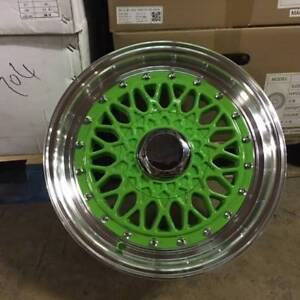 15 Rs Style Wheels Rims Green Fits Honda Civic Prelude Insight Crx Accord