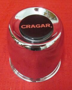 Cragar Center Cap Black Logo New Chrome Metal Cap 31 2 Diameter