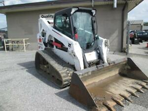 2015 Bobcat T650 Skid Steer Loader Erops Ac heat 2 Speed 74 Hp Doosan Diesel