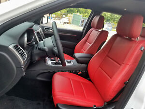 Katzkin Red Leather Repla Seat Covers Fits 2011 2019 Jeep Grand Cherokee Limited