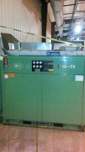 Sullair 16bs 75h Wcac 125 Psi 75 Hp Rotary Screw Industrial Air Compressor