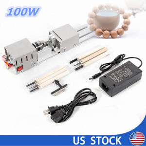 Diy Mini Lathe Beads Polisher Table Saw Cutting Drill Rotary Woodworking Tool
