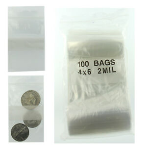 4 x6 Plastic Bags Reclosable Pack Of 100 Poly Baggies W Writing Block