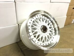 15 Rs Style Wheels Rims White 4 Lug 4x100 114 3 4x4 5 Brand New Set Of 4