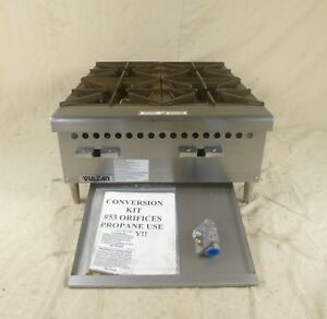 New Vulcan Vcrh 1 24 Countertop 4 Burner Range Natural Gas Or Propane With Kit