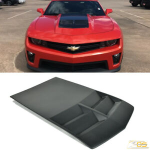 For 10 15 Camaro Zl1 Style Fiberglass Heat Extractor Hood Insert Body Kit