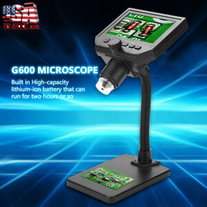 Digital 1 600x 4 3inch Lcd Microscope Magnifier Endoscope Aluminum Alloy Stand