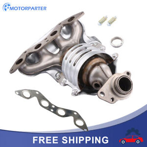 Exhaust Manifold Catalytic Converter Kit For 2001 05 Honda Civic Dx Lx Sohc 1 7l
