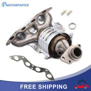 Exhaust Manifold Catalytic Converter For 01 05 Honda Civic 1 7l L4 Dx Lx Ex Si