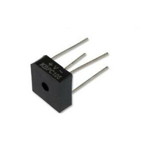 10x Kbpc106 Bridge Rectifier single Phase 3a 600v Though Hole