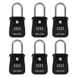 Best Realtor Lock Box 1500 Key Storage Set Your Own Combination 6 Pack Black
