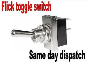 Metal Heavy Duty Flick Switch Toggle On Off Switch 12 5mm Pack Of 2