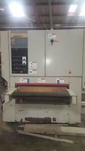 Timesaver Abrasive Bouble Function Sander And Planer 43 Wide Belt Sander
