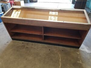 Large Wood Glass Display Counter case